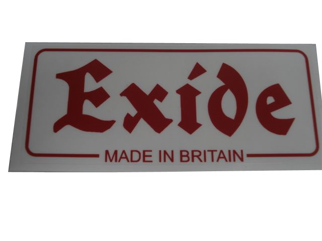Exide Battery Sticker