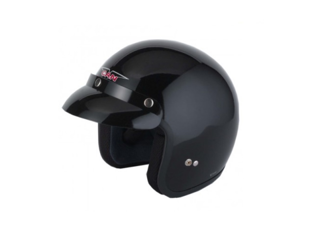 Helmet Open Face - Black Extra Large