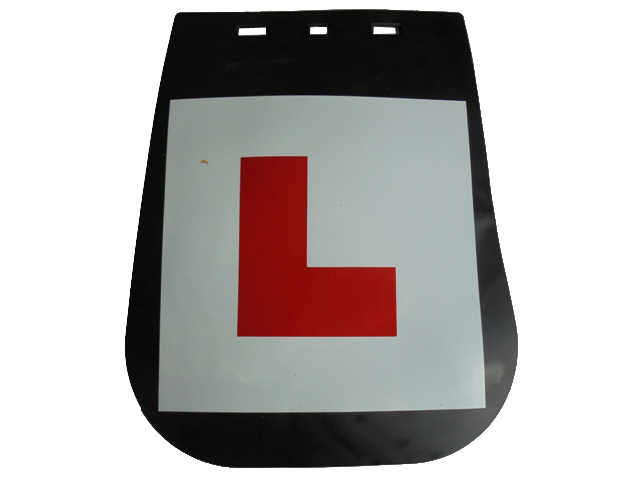 L-PLATE MUDFLAP 265 mm  (inc fitting)
