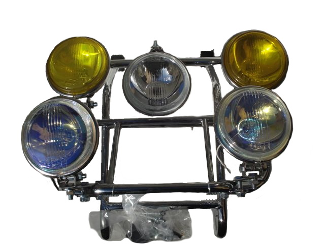 Front Carrier Rack With Lights - Colour
