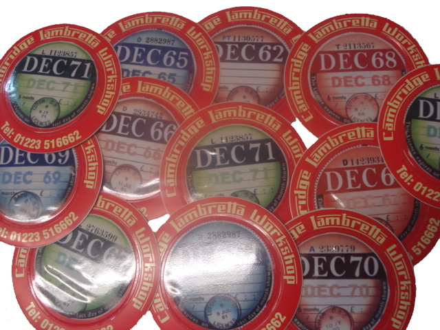 Sticker - Tax Disc Holder Red